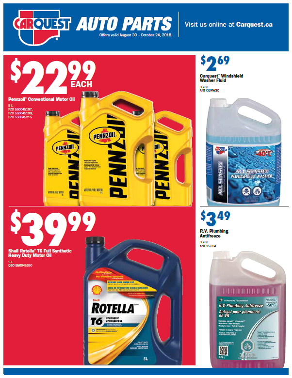Cover of a monthly retail flyer featuring automotive products